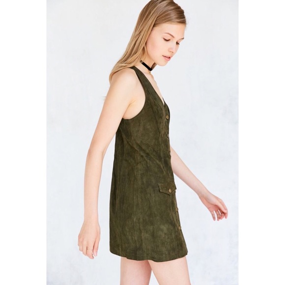 Cooperative Dresses & Skirts - UO Cooperative Paulina Suede Button-Down Dress